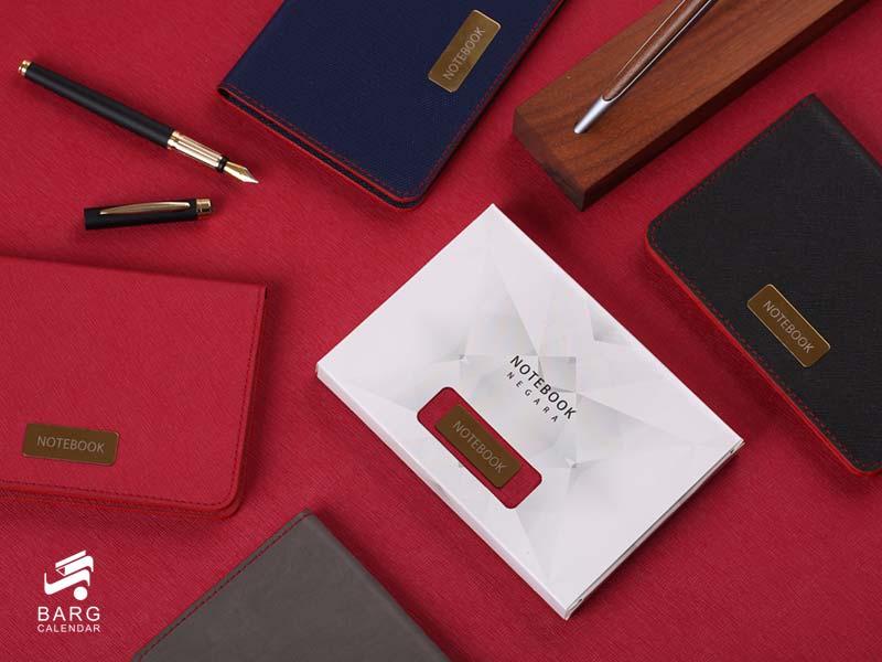 یادداشت جیبی نگارا با جعبه - سررسید 98 واحد سالنامه برگ
