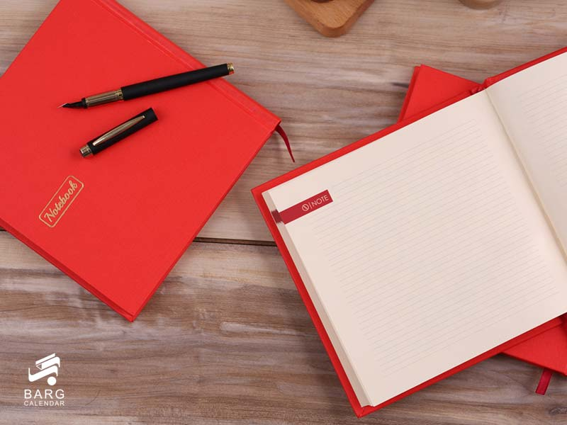 دفتر یادداشت چارگوش - هدایای تبلیغاتی - سررسید 98 واحد سالنامه برگ