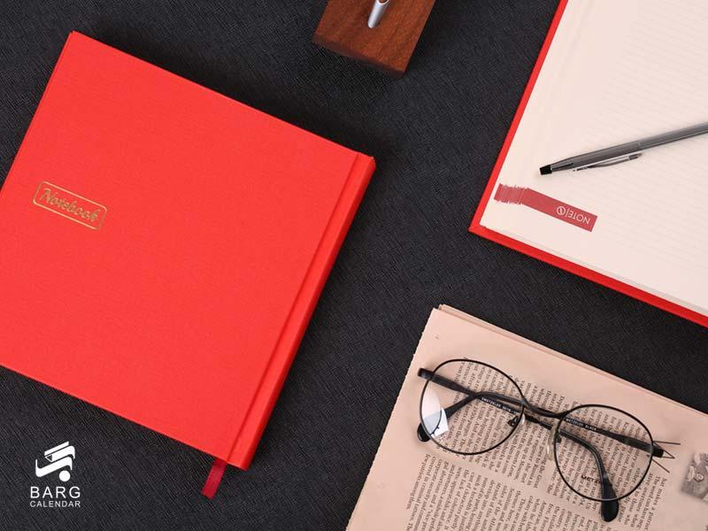 دفتر یادداشت چارگوش - سررسید 98 واحد سالنامه برگ