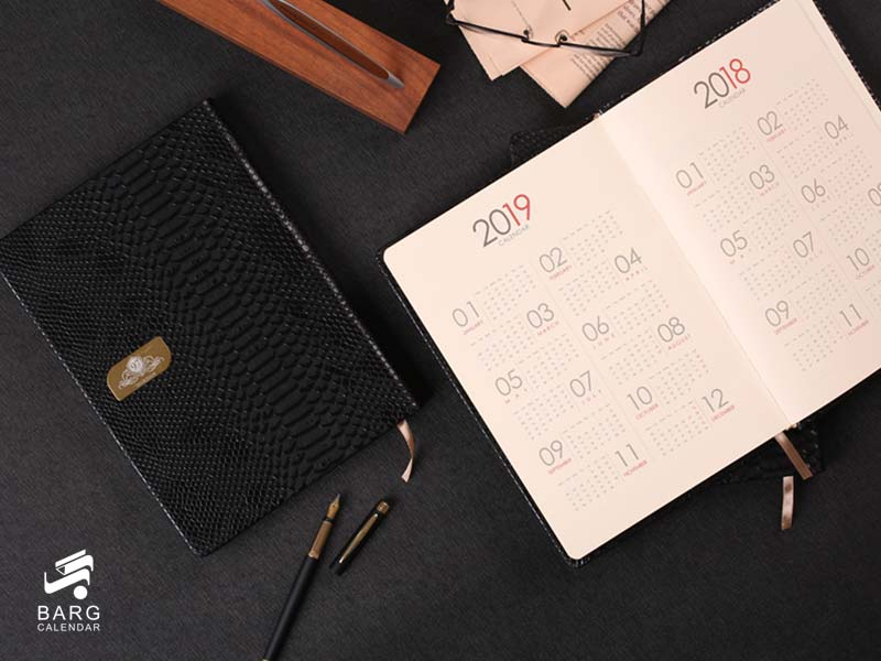 صفحات سررسید وزیری لاکچری سامان - سررسید 98 واحد سالنامه برگ