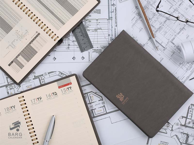 سررسید فنری اروپایی دستیار مهندسی رسام - سررسید 97 واحد سالنامه برگ