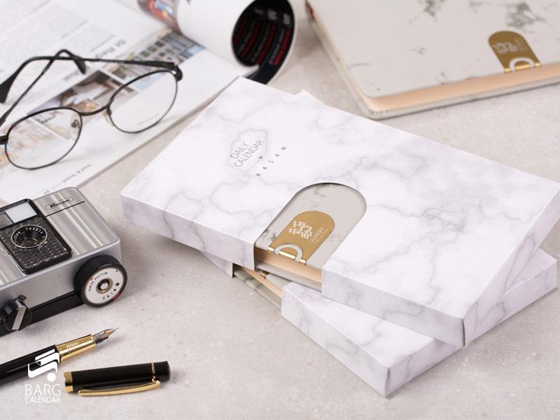 سالنامه چرم رسام با جعبه